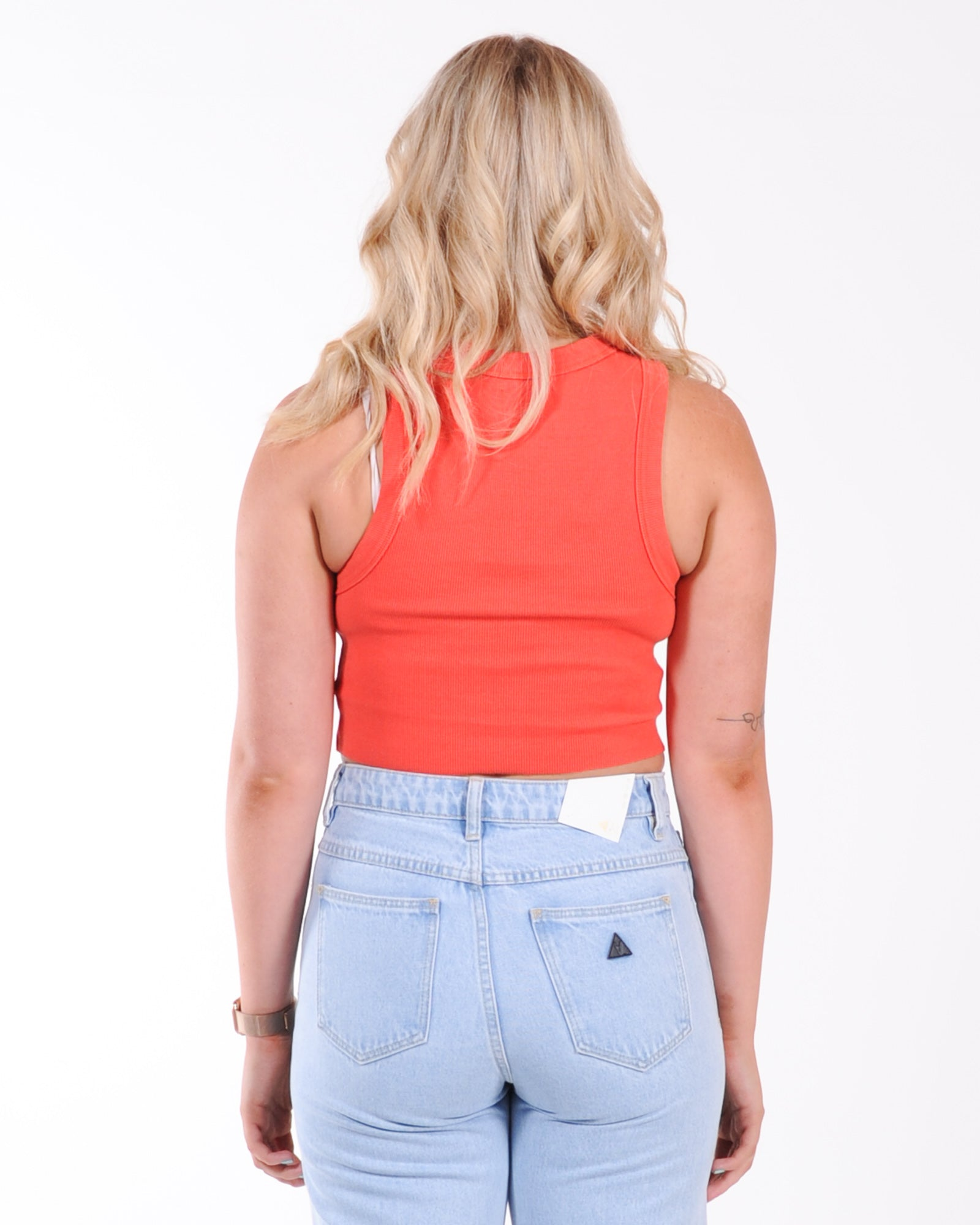 A Brand Heather Singlet - Rust Red