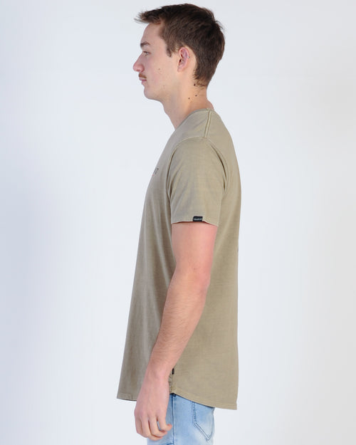 Silent Theory Stripe Pocket Tee - Beige
