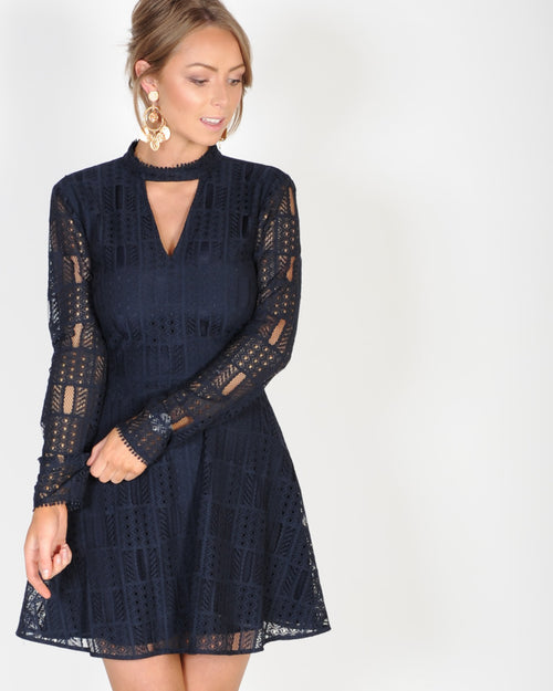 THE FIFTH LABEL UNDERCOVER L/S DRESS - NAVY