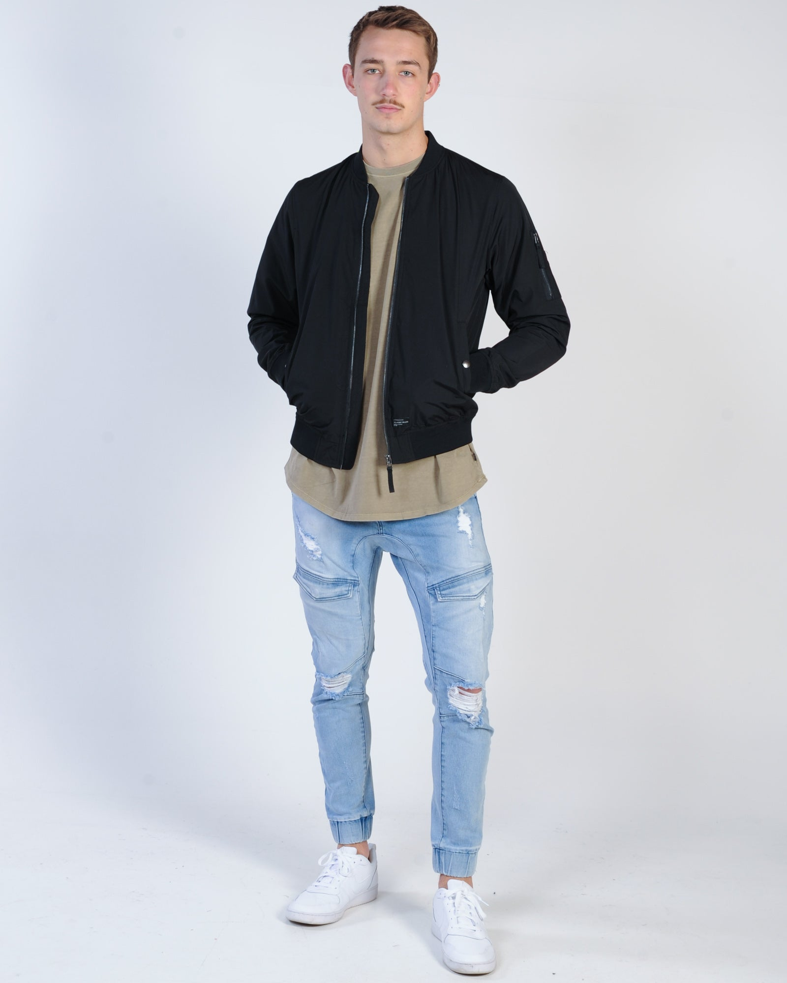 Academy Essential Bomber Jacket - Black