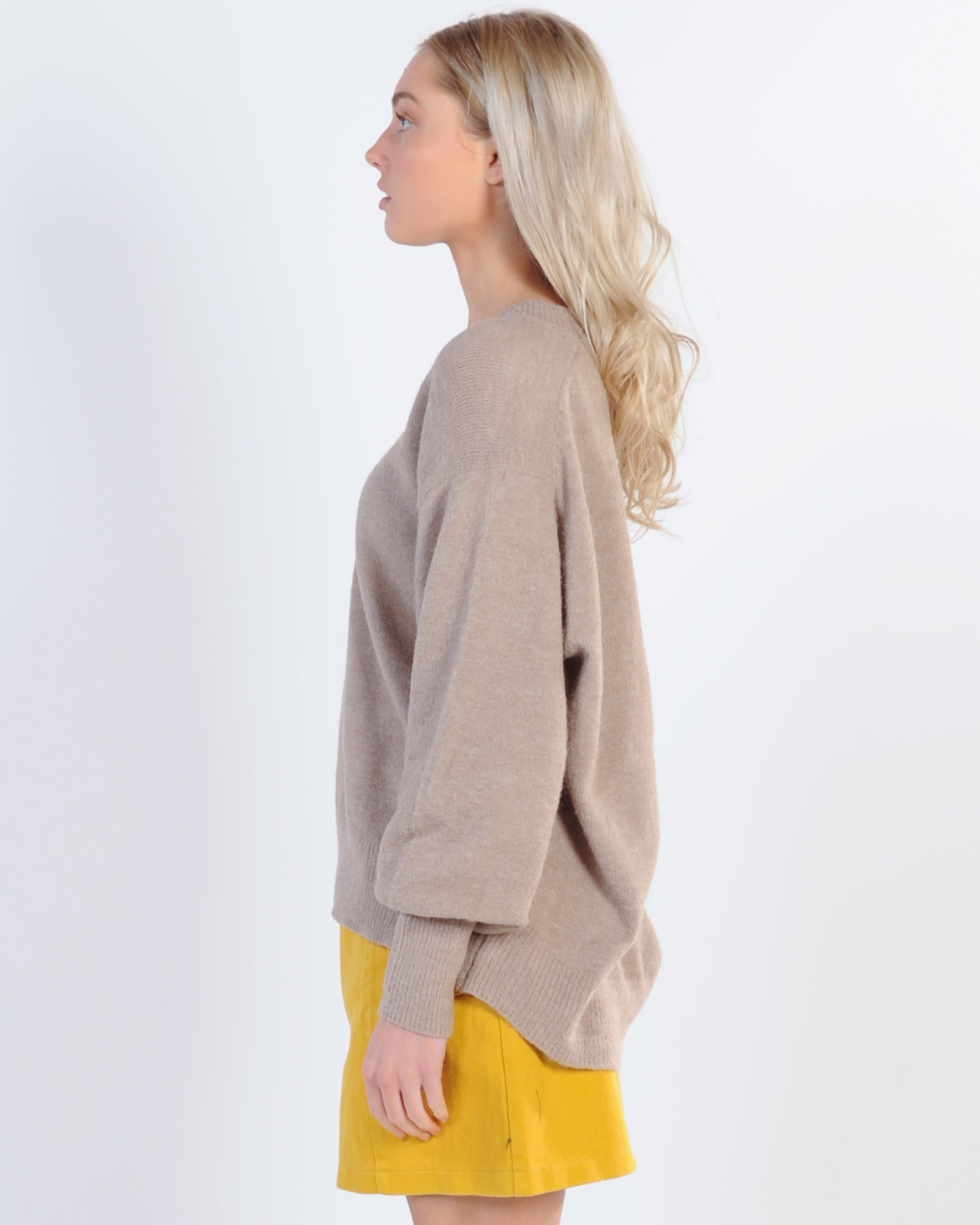 Sunday Slouch Knit - Latte