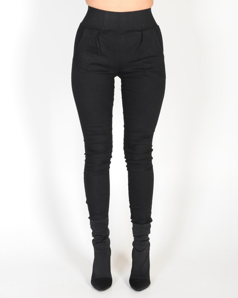 FULL MOON HIGH WAISTED PANT - BLACK