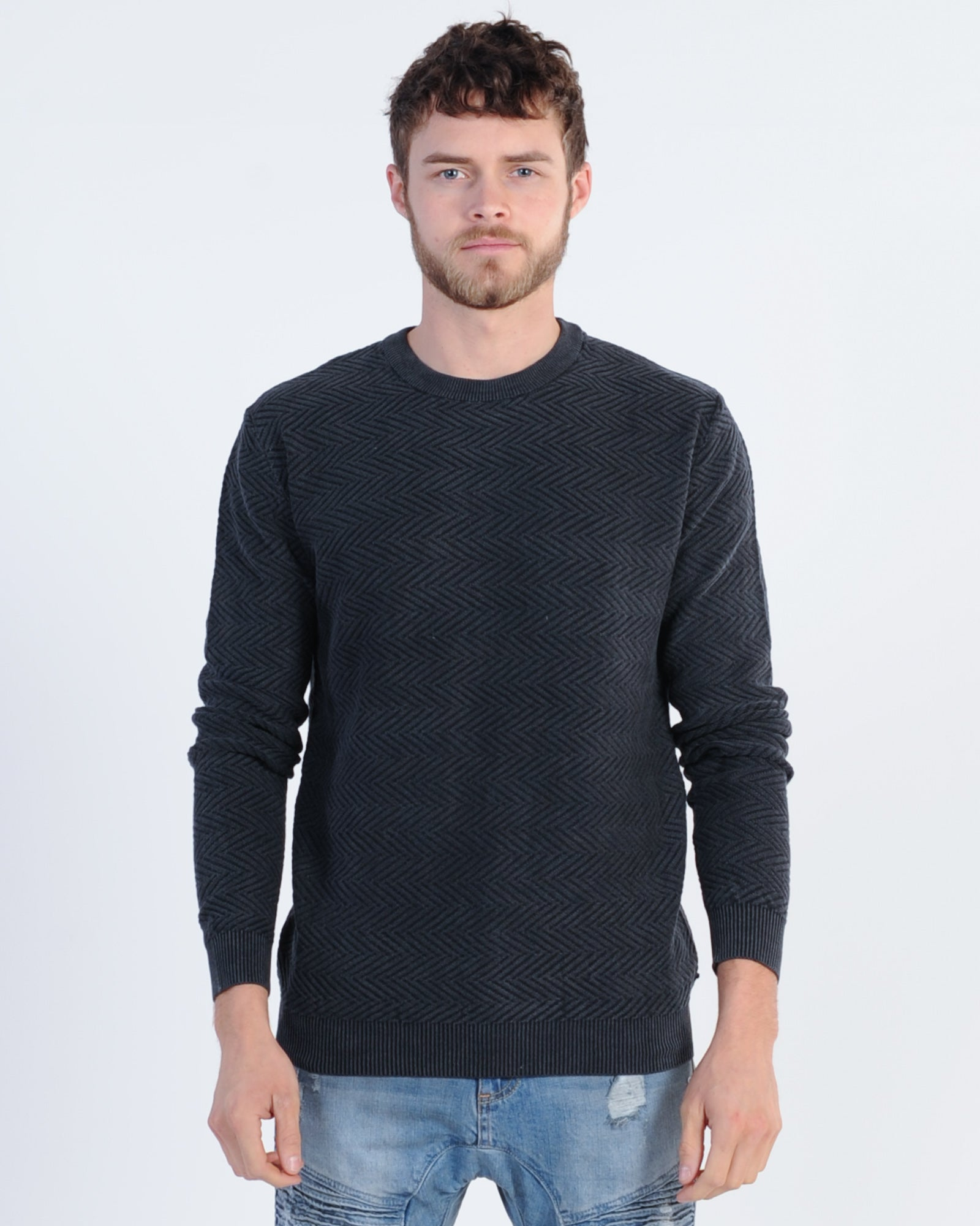 Industrie Nelson Knit Jumper - Black