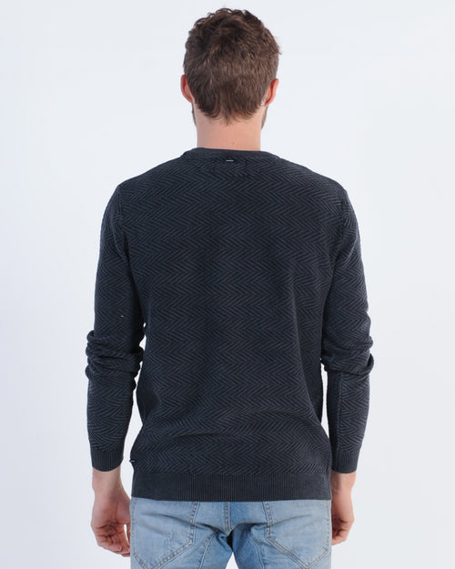 NENA & PASADENA NEXUS CREW SWEAT - GREY MARLE/BLACK