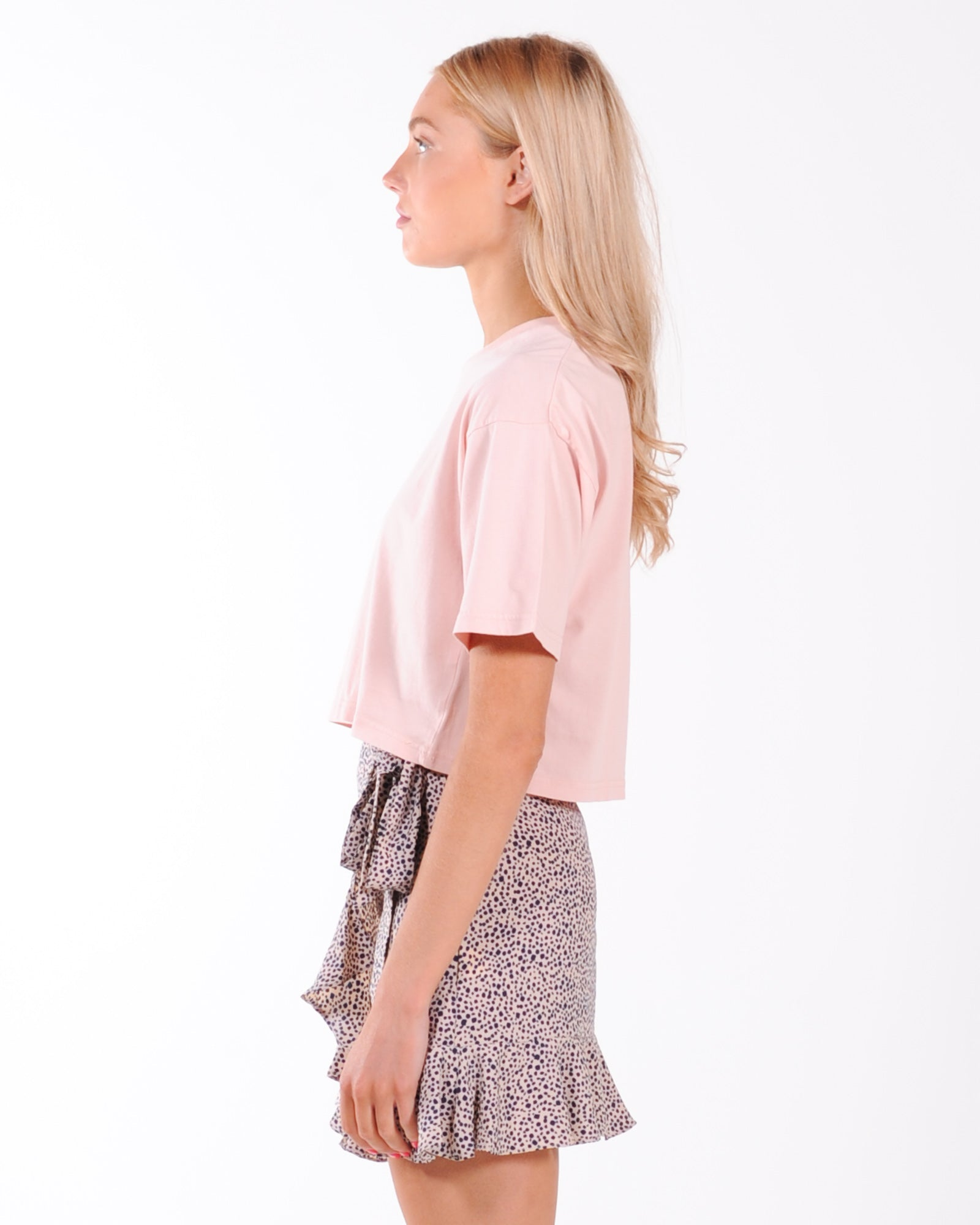 Silent Theory Relaxed Crop Tee - Musk