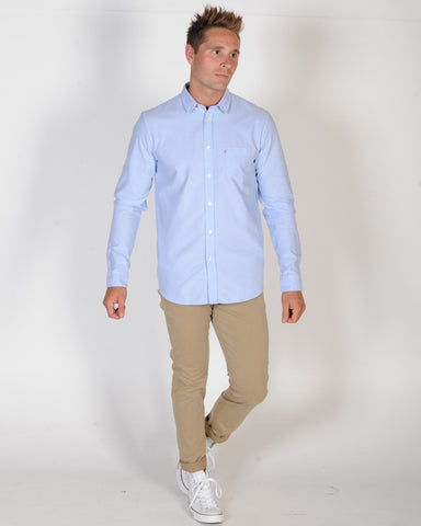 ACADEMY DILLON OXFORD L/S SHIRT - BLUE