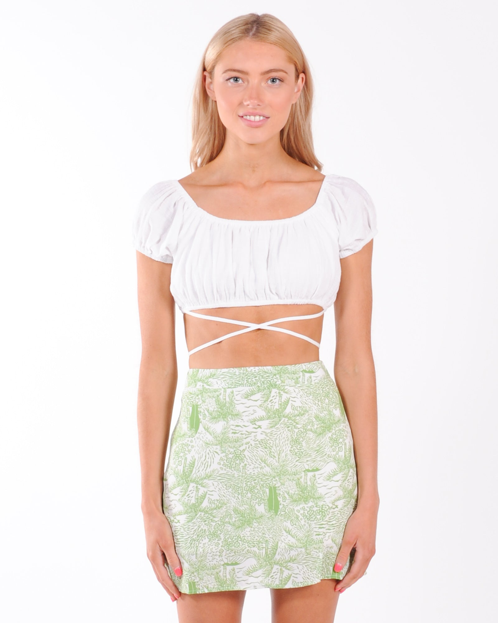 Best Of You Crop Top - White