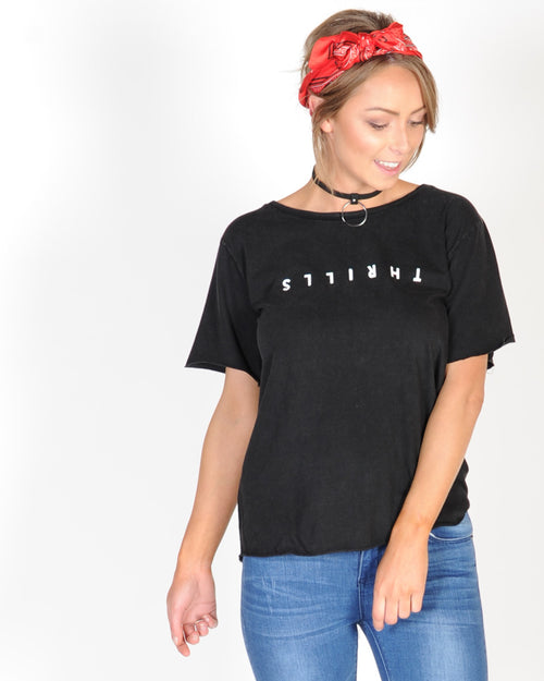 THRILLS CLASSIC LOOSE TSHIRT - FADED BLACK