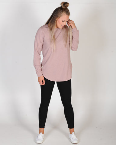 ALL ABOUT EVE LONGLINE JUMPER - BLUSH MARLE