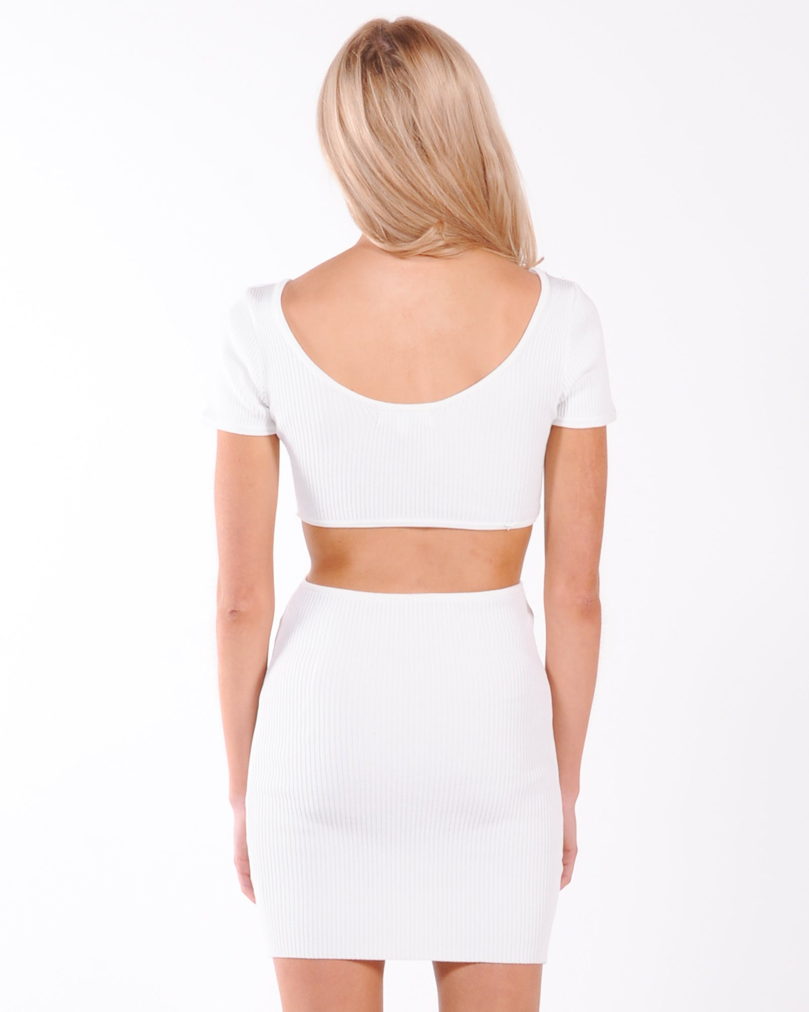 City Dancing Knit Dress - White