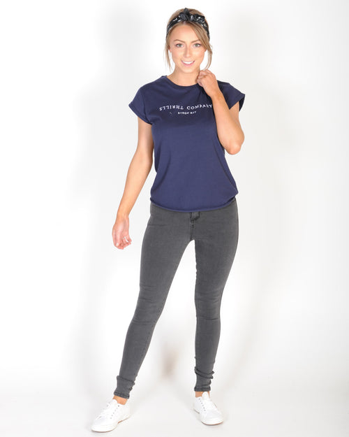 THRILLS PALM TREE LOCAL TEE - NAVY