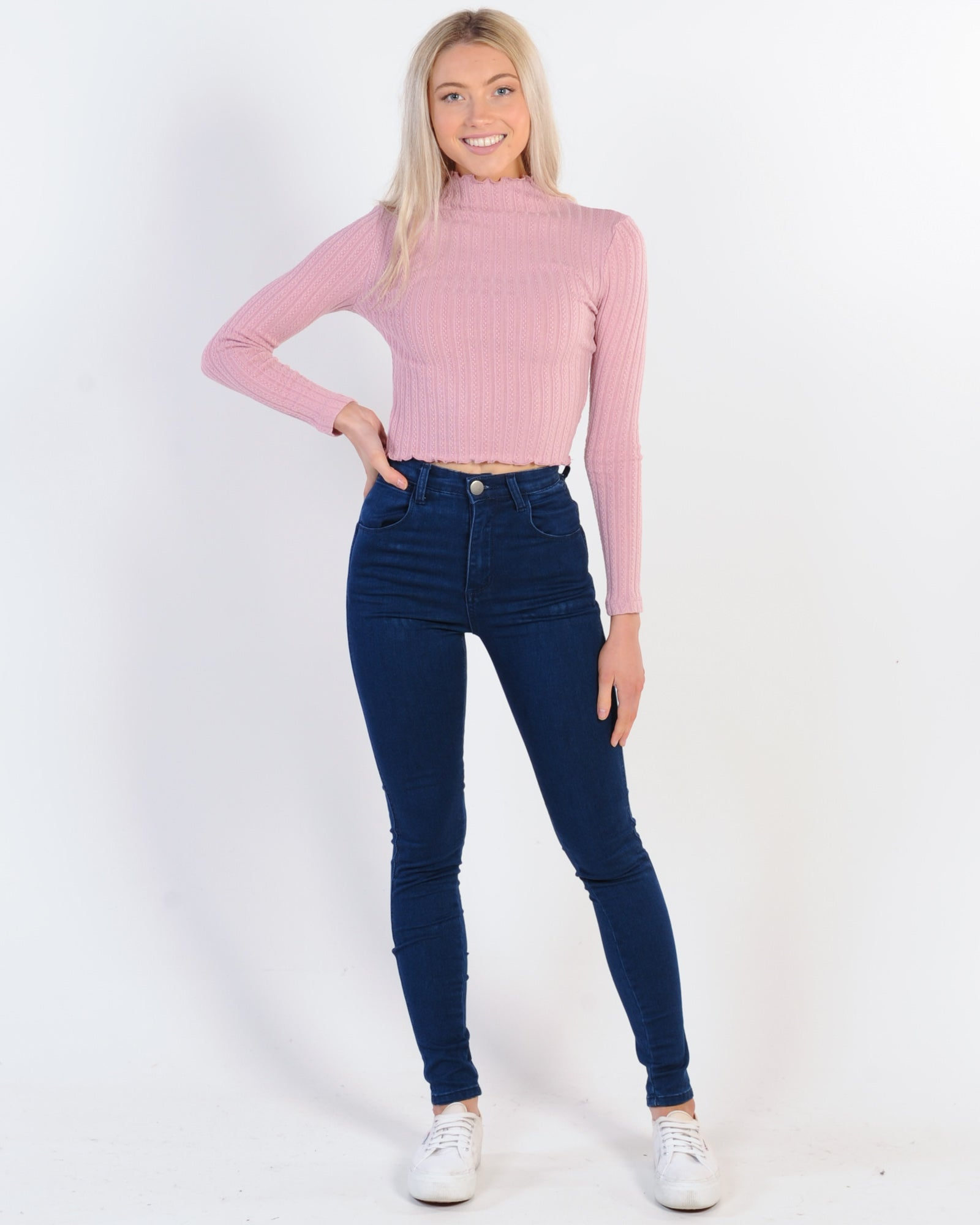 Dallas High Waisted Jean - Navy Blue
