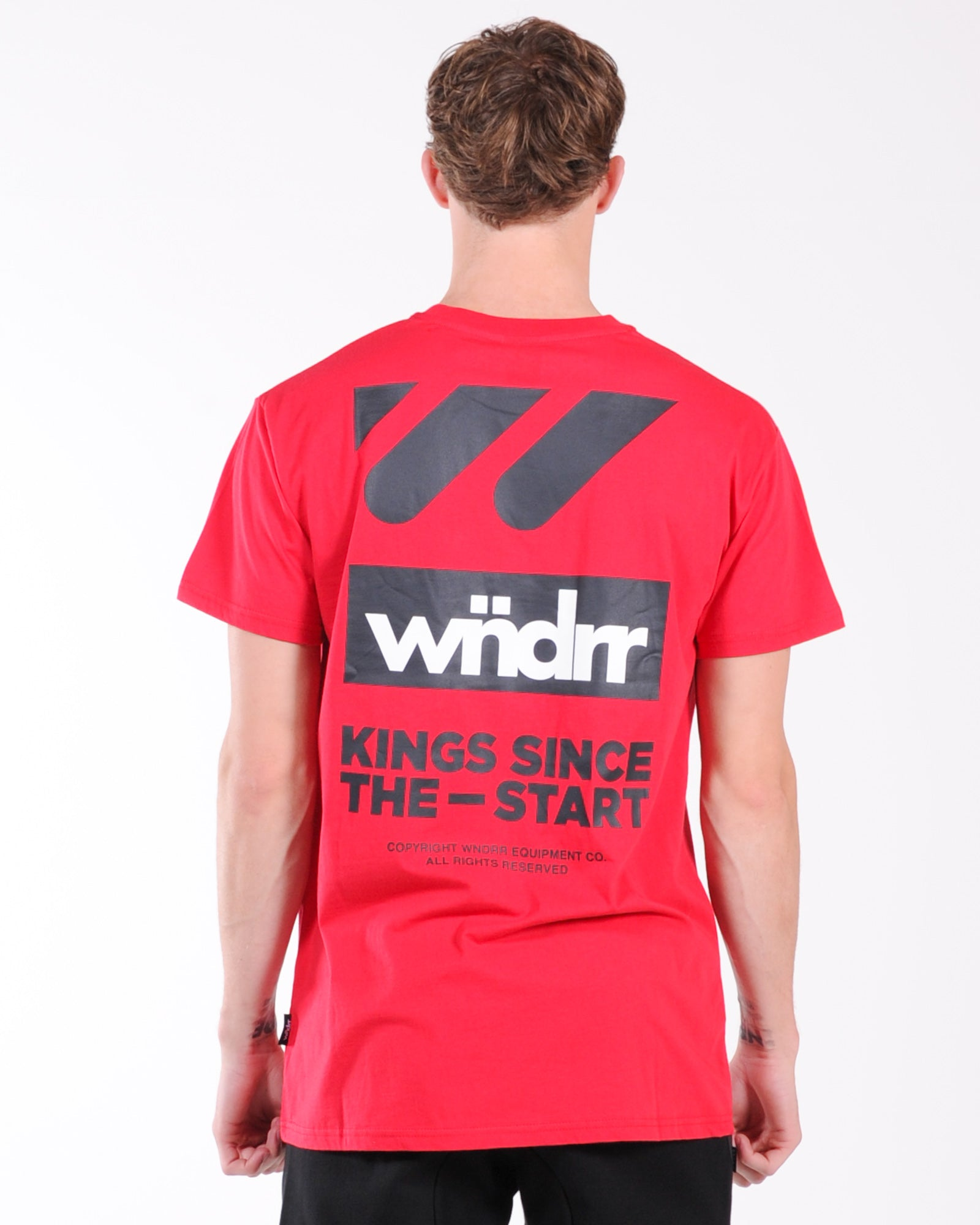 Wndrr Centre Line Custom Fit Tee - Red