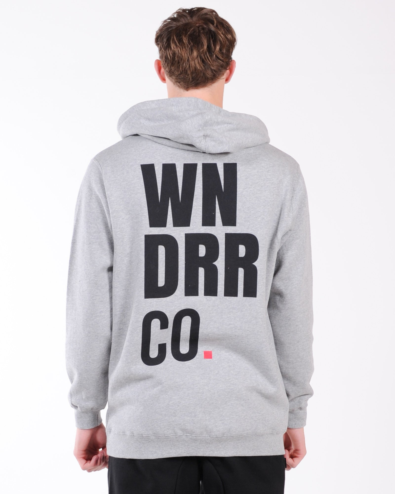 Wndrr Co Hood Sweat - Grey Marle