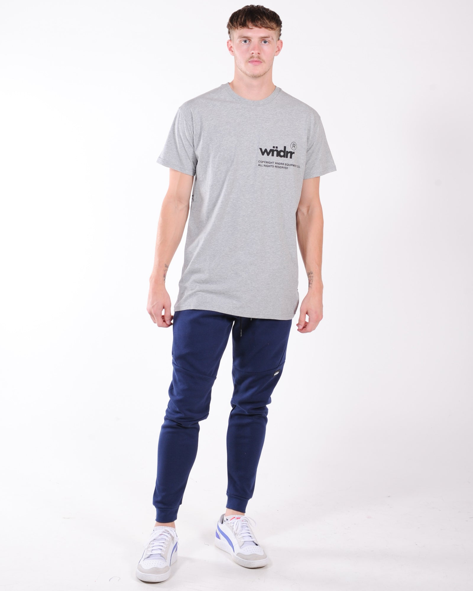 Wndrr Offcut Custom Fit Tee - Grey Marle