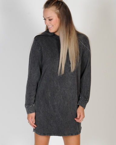 ALL ABOUT EVE VALERIA HOODY DRESS - GREY