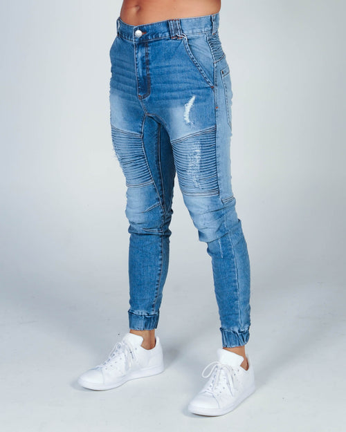 NENA & PASADENA DESTROYER PANT - BLUE TRASH