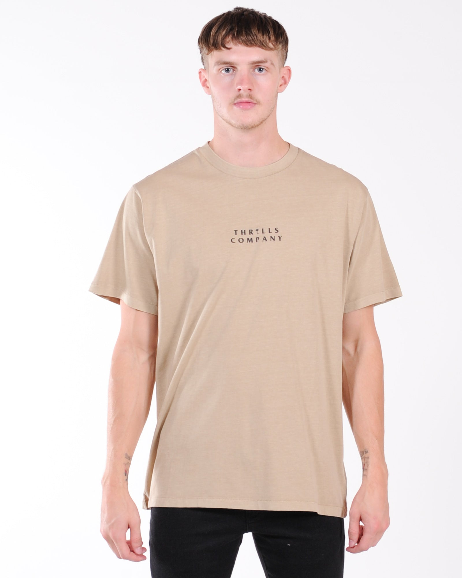 Thrills Palmed Thrills Company Merch Fit Tee - Washed Tan
