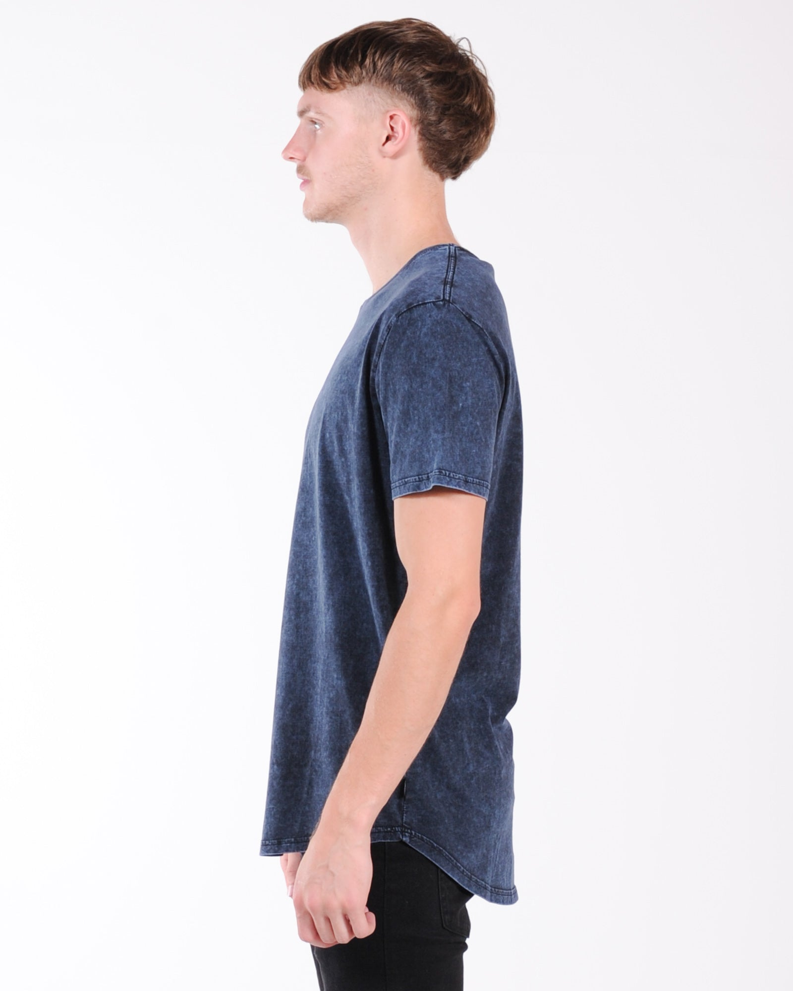 Silent Theory Acid Tail Tee - Fjord Navy