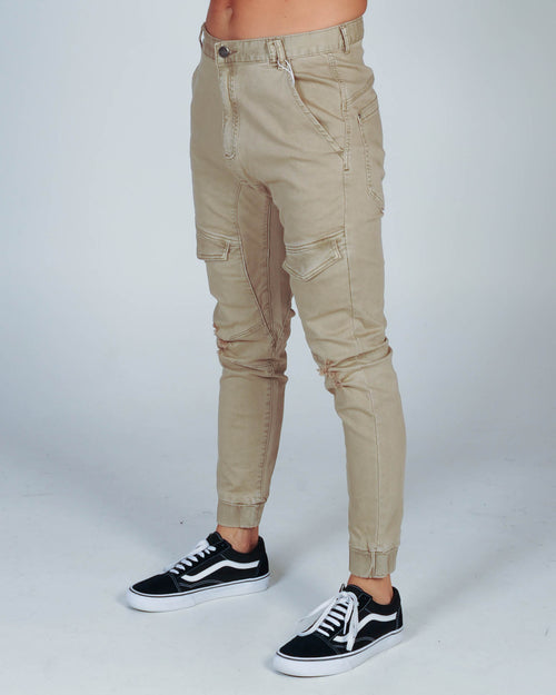 NENA & PASADENA FLIGHT PANT - OXFORD TAN