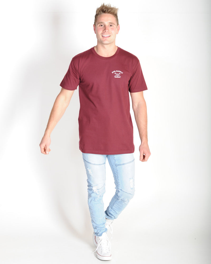 DTB SUPPLY DIVISION TEE - MAROON