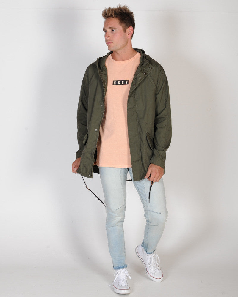 ST. GOLIATH SHELL PARKER JACKET - KHAKI