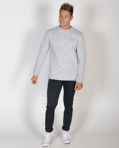 INDUSTRIE MALIBU CREW SWEAT - HEATHER GREY