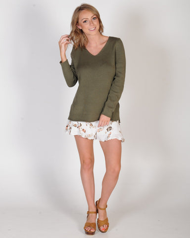 ALL ABOUT EVE TRAVELLER KNIT - KHAKI