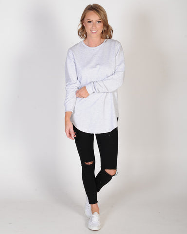 ALL AOUT EVE LONGLINE JUMPER - LIGHT GREY