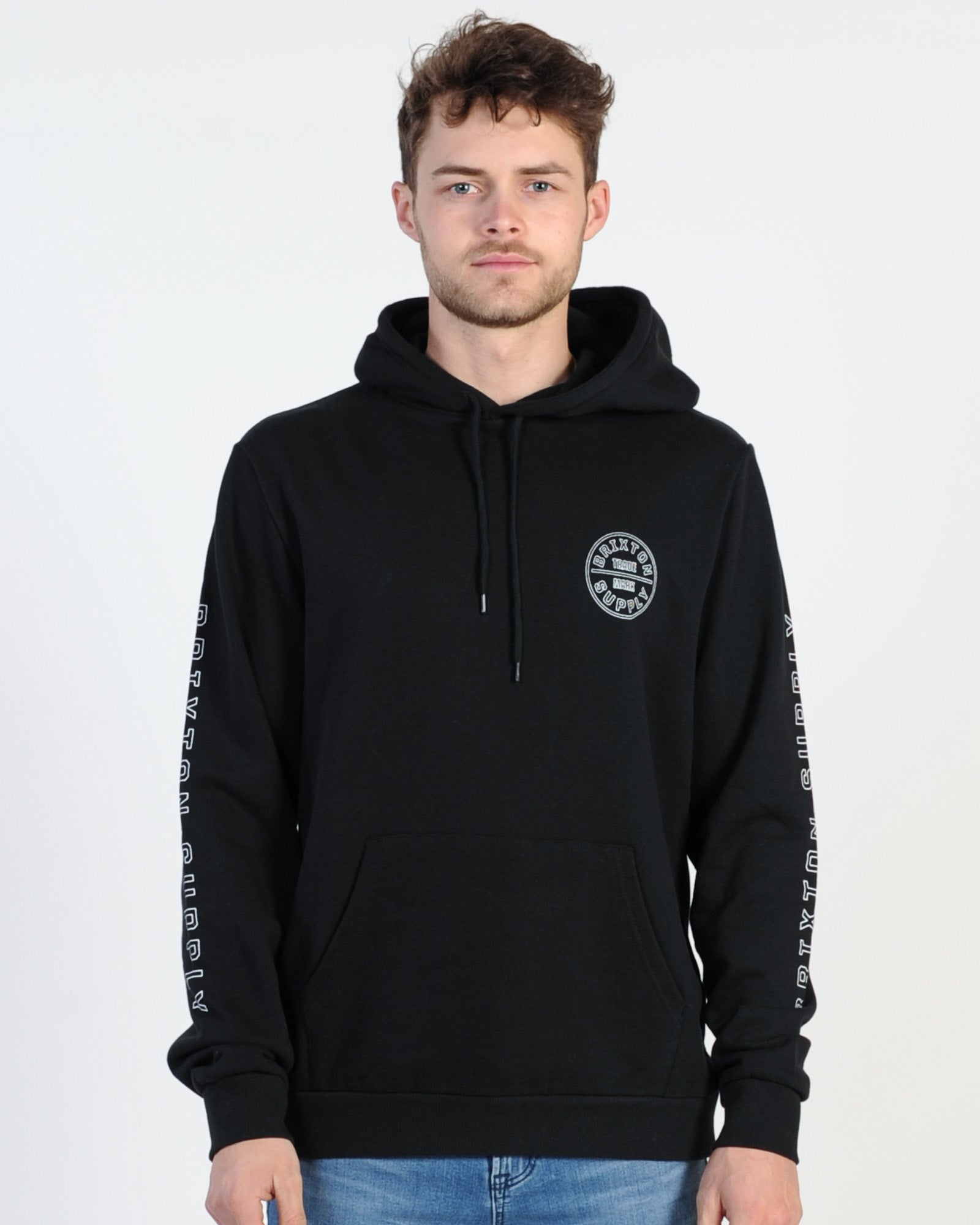 Brixton Oath Iv Intl Hood Sweat - Black/White