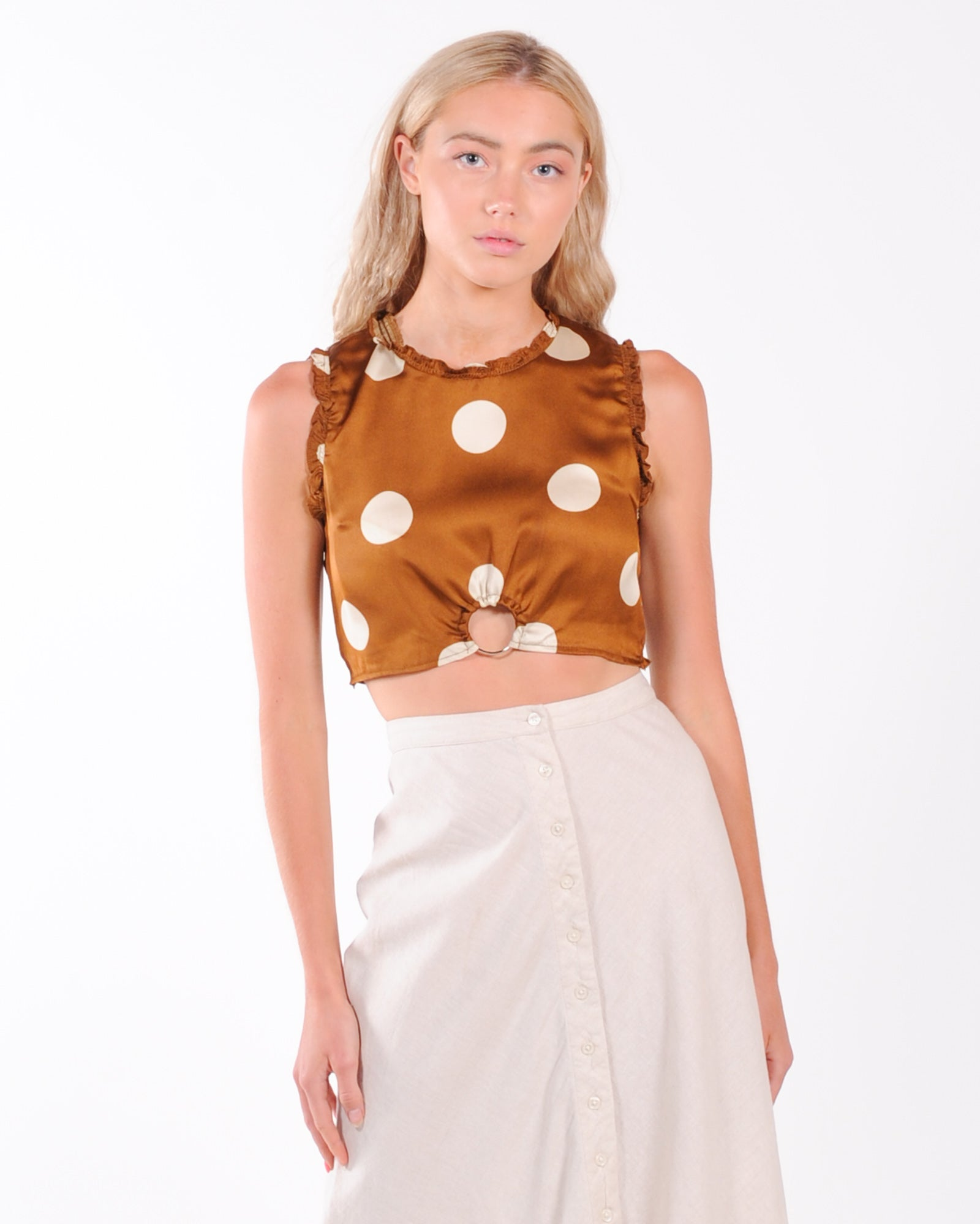 First Love Crop Top - Chocolate