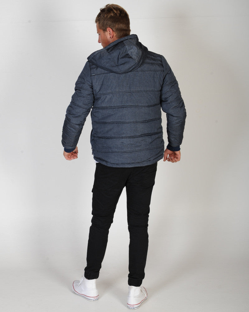 ELWOOD INTERSTATE PUFFER JACKET - NAVY MARLE