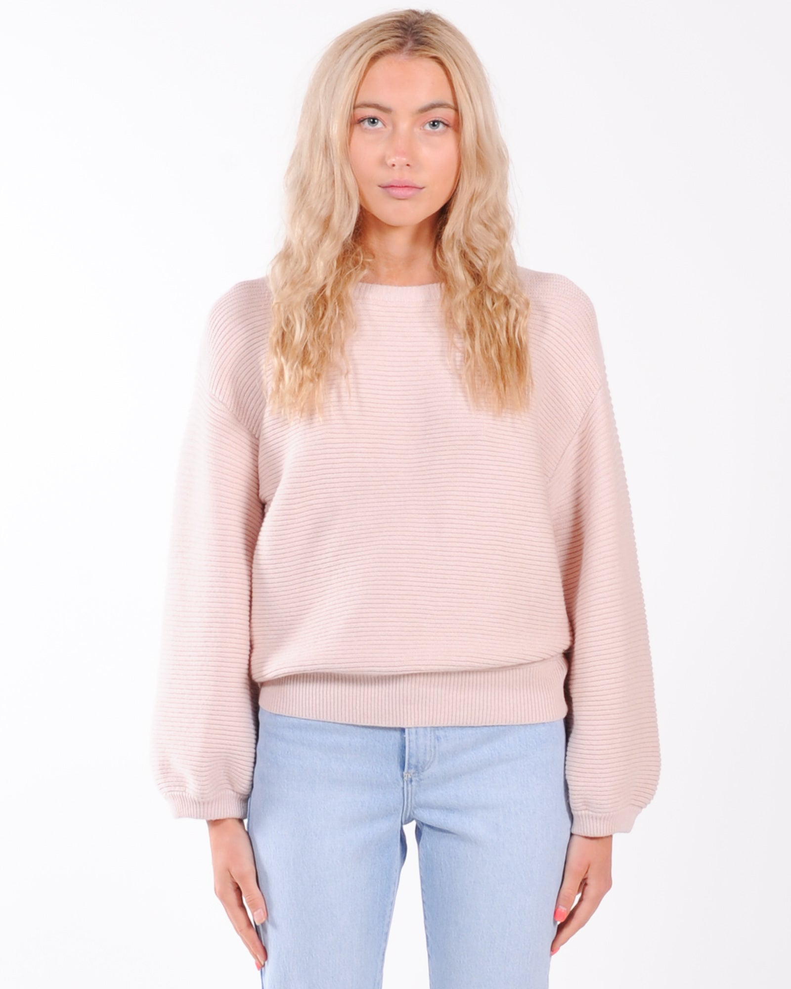 Rule Breaker Knit Jumper - Blush