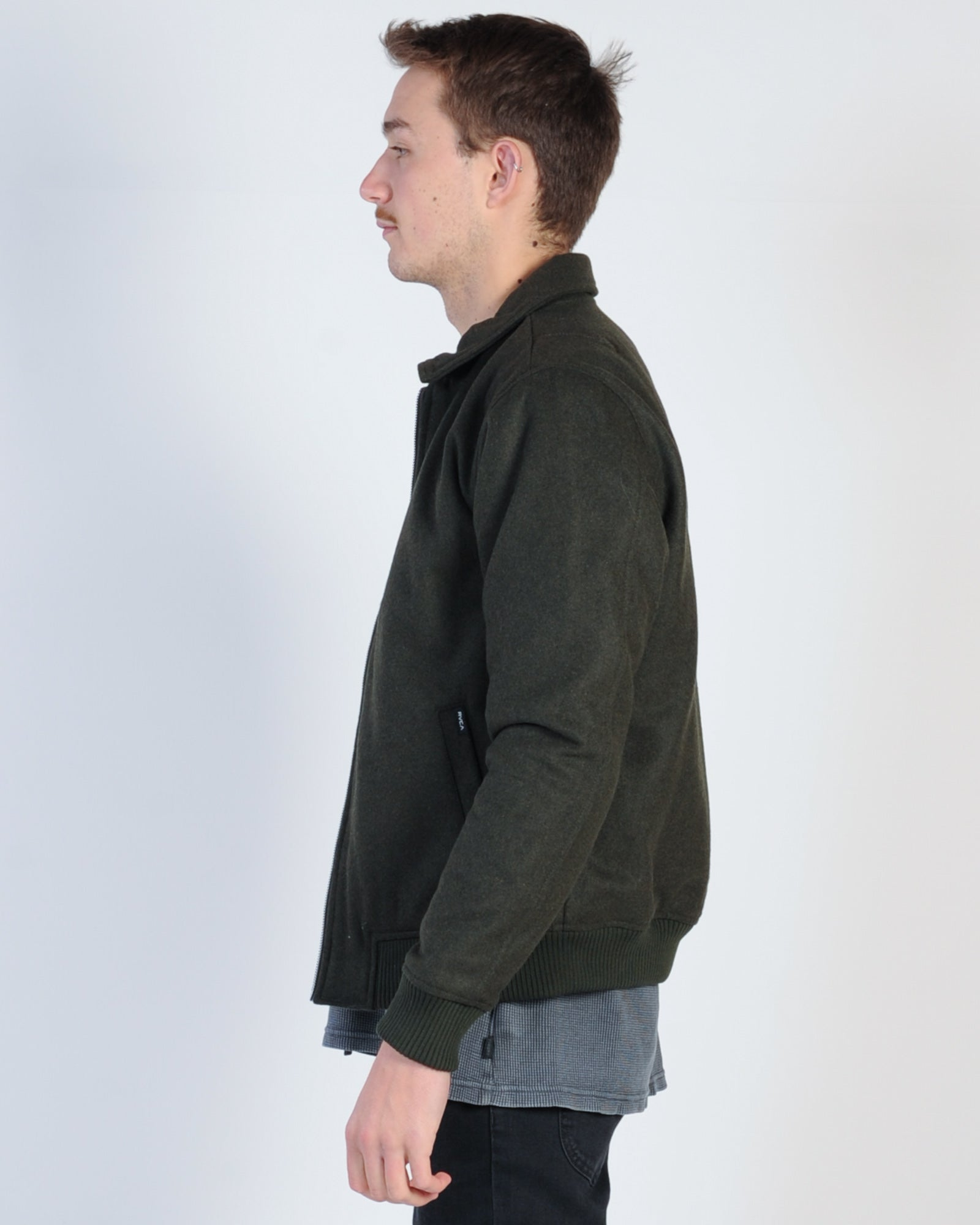 Rvca Kickin Bomber Jacket - Oliver Heather