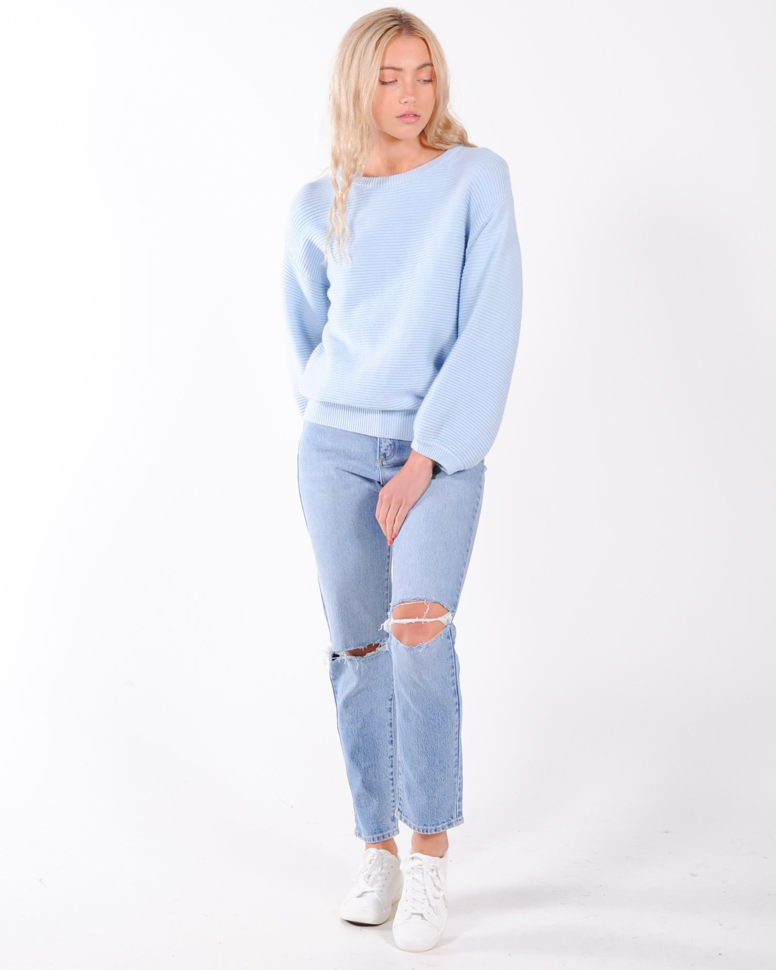 Rule Breaker Knit Jumper - Blue