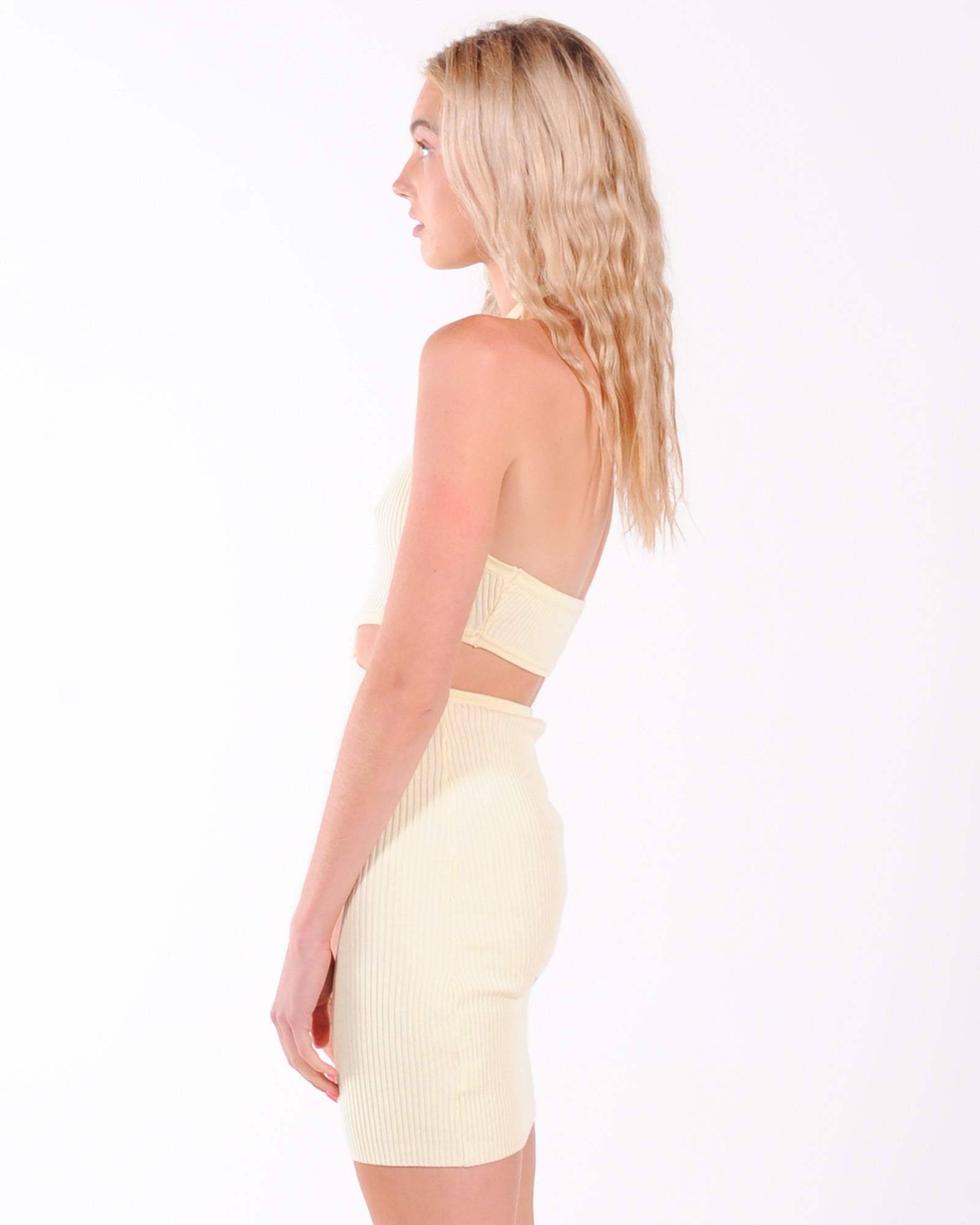 Love At First Sight Midi Dress - Lemon