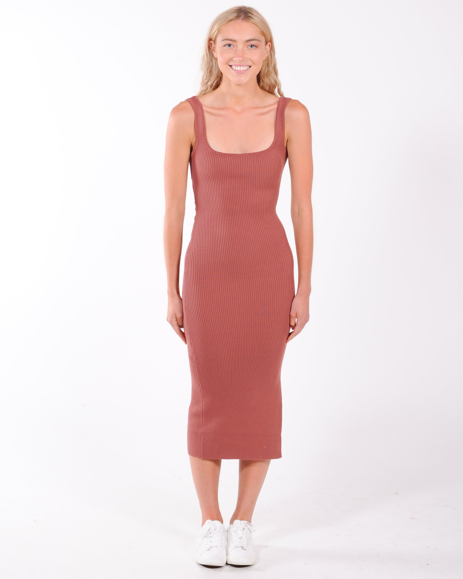 On The Guest List Midi Dress - Chocolate