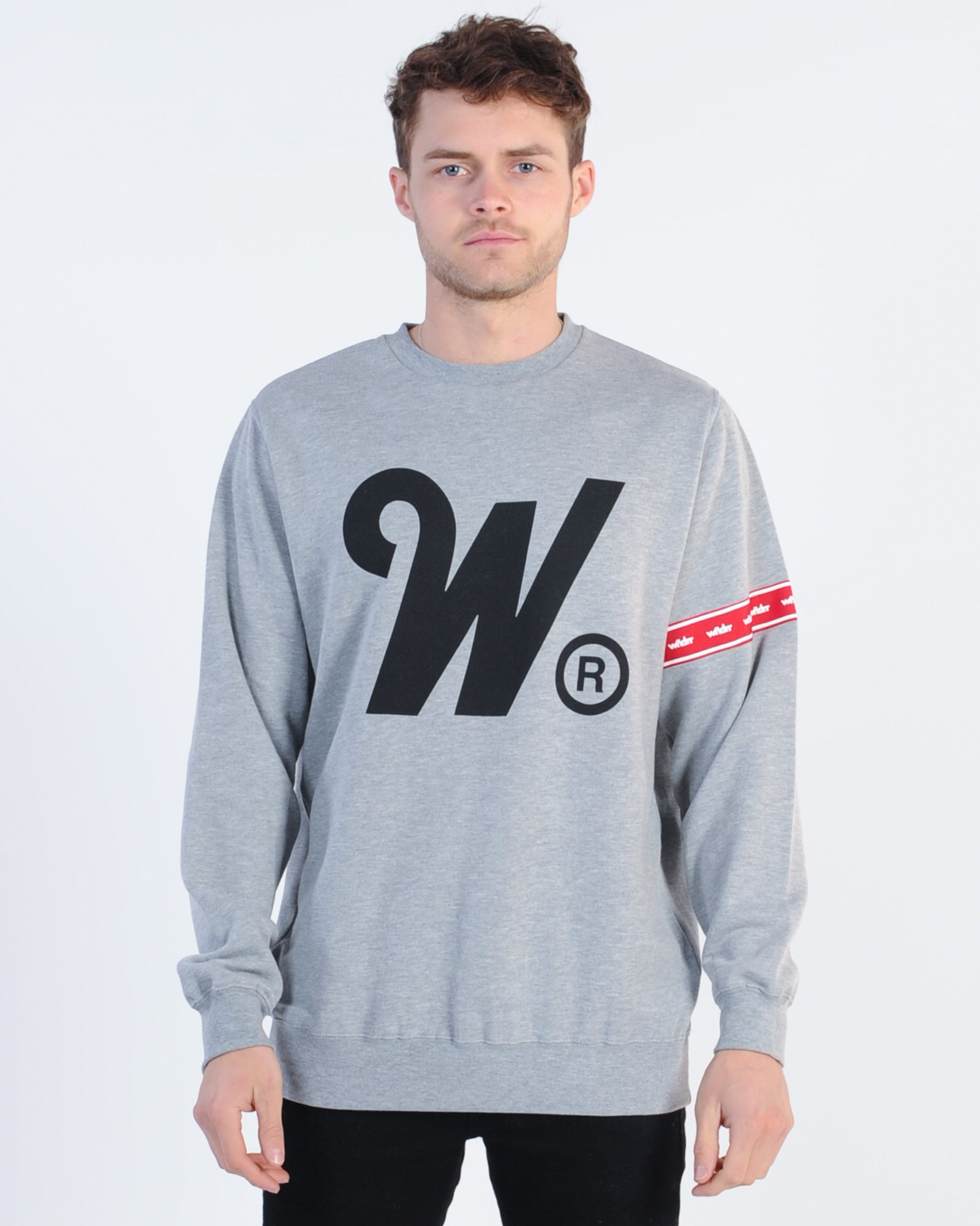 Wndrr Phillips Crew Sweat - Grey Marle