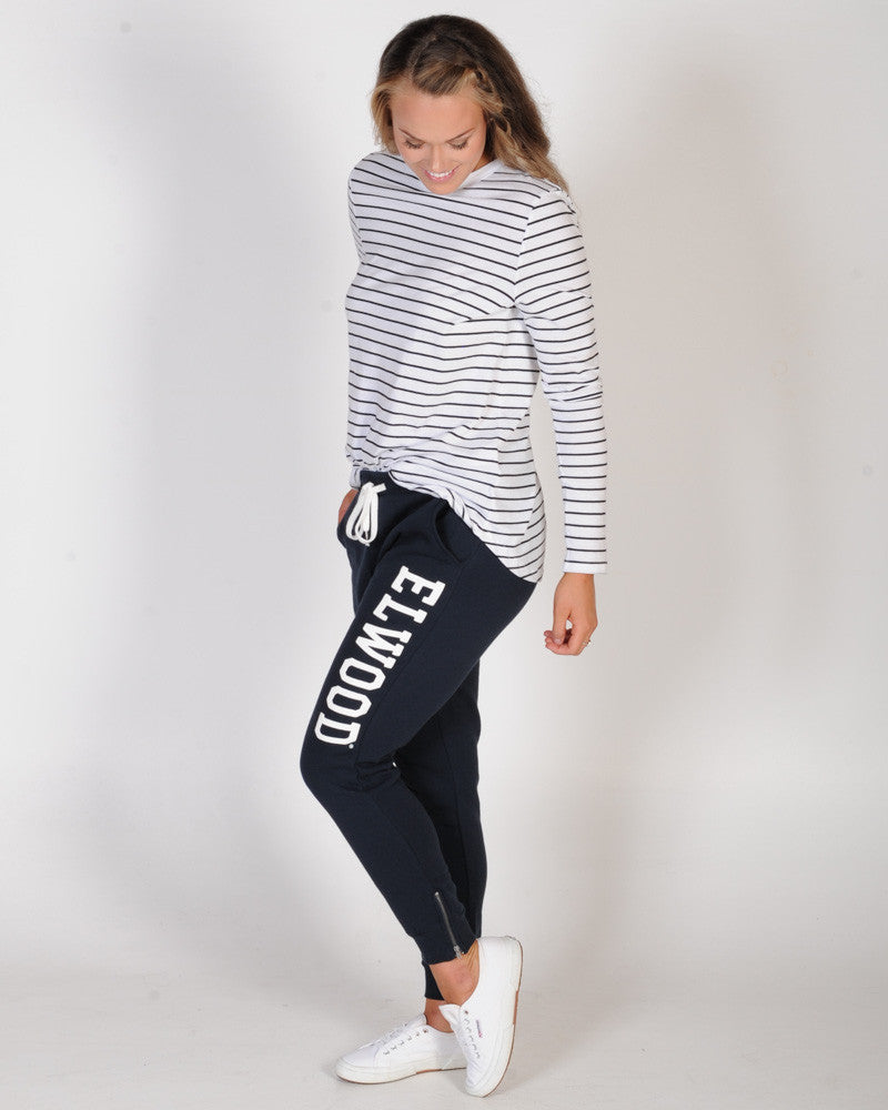 ELWOOD HUFF N PUFF TRACKPANT - NAVY