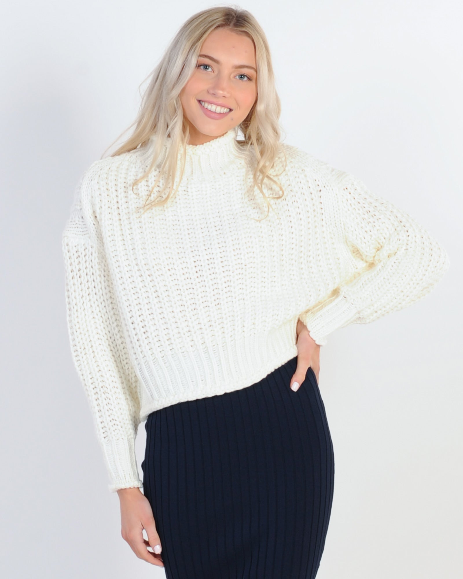 Encore Knit Jumper - White