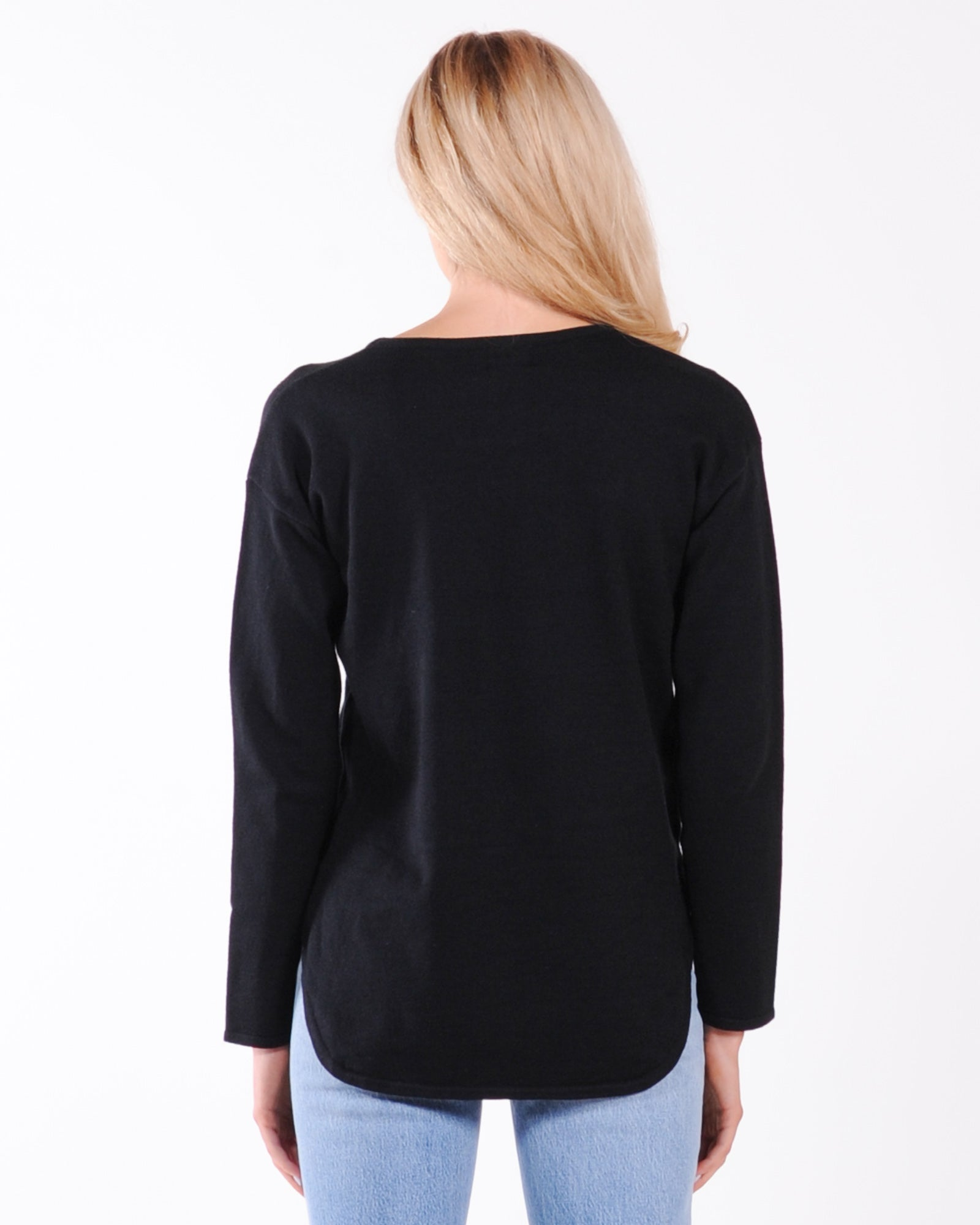 Drop Off Knit Top - Black