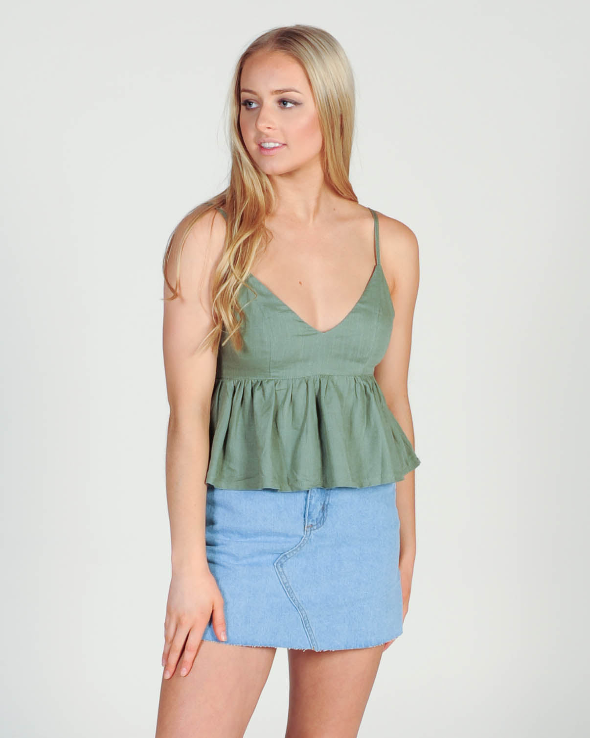 Summer Ready Top - Khaki