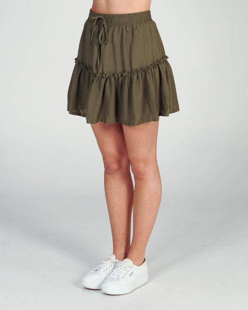 Back To You Mini Skirt - Khaki
