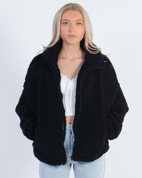 Sundays Sheepish Teddy Coat - Black