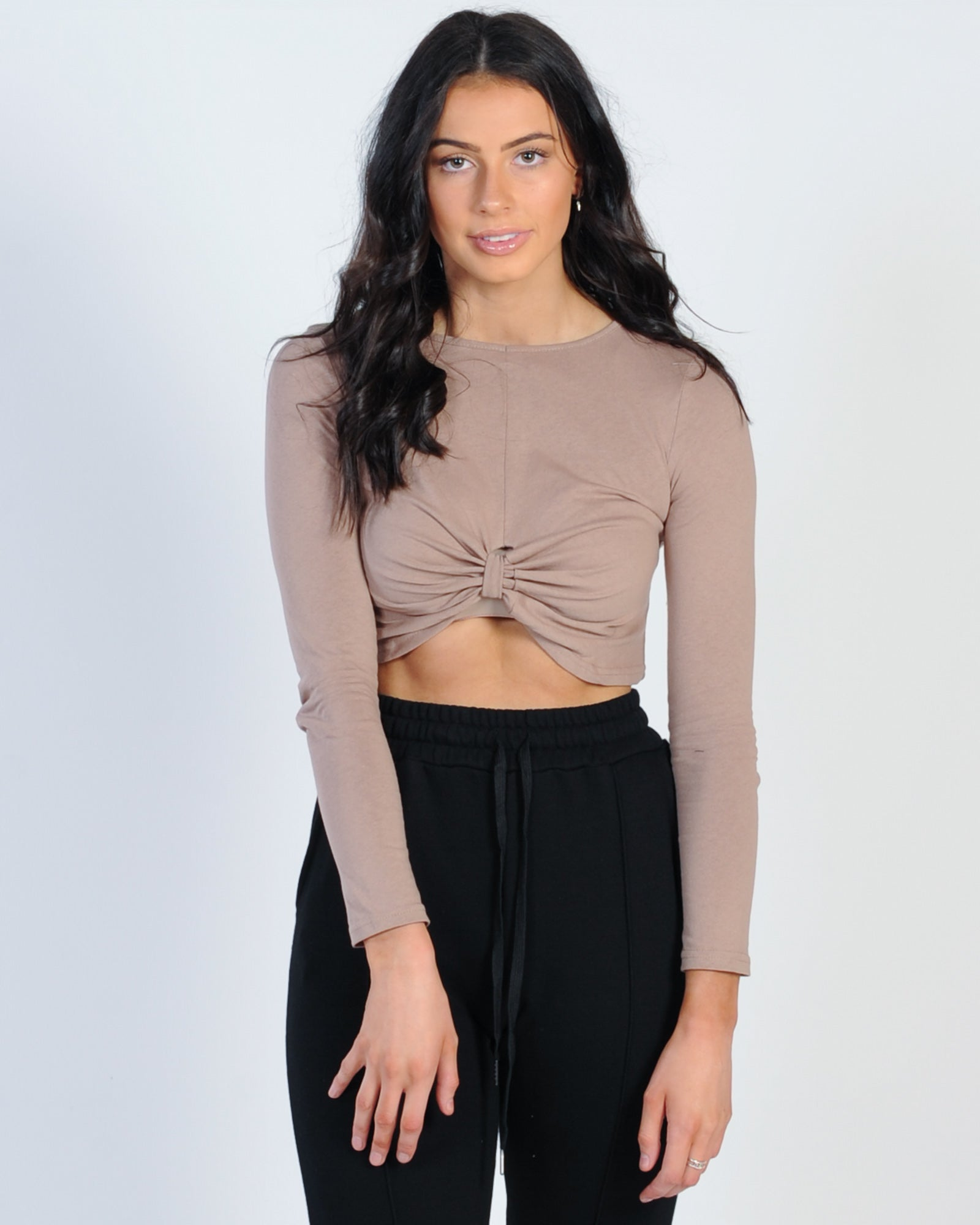 Bevery Hills Knot Top - Tan