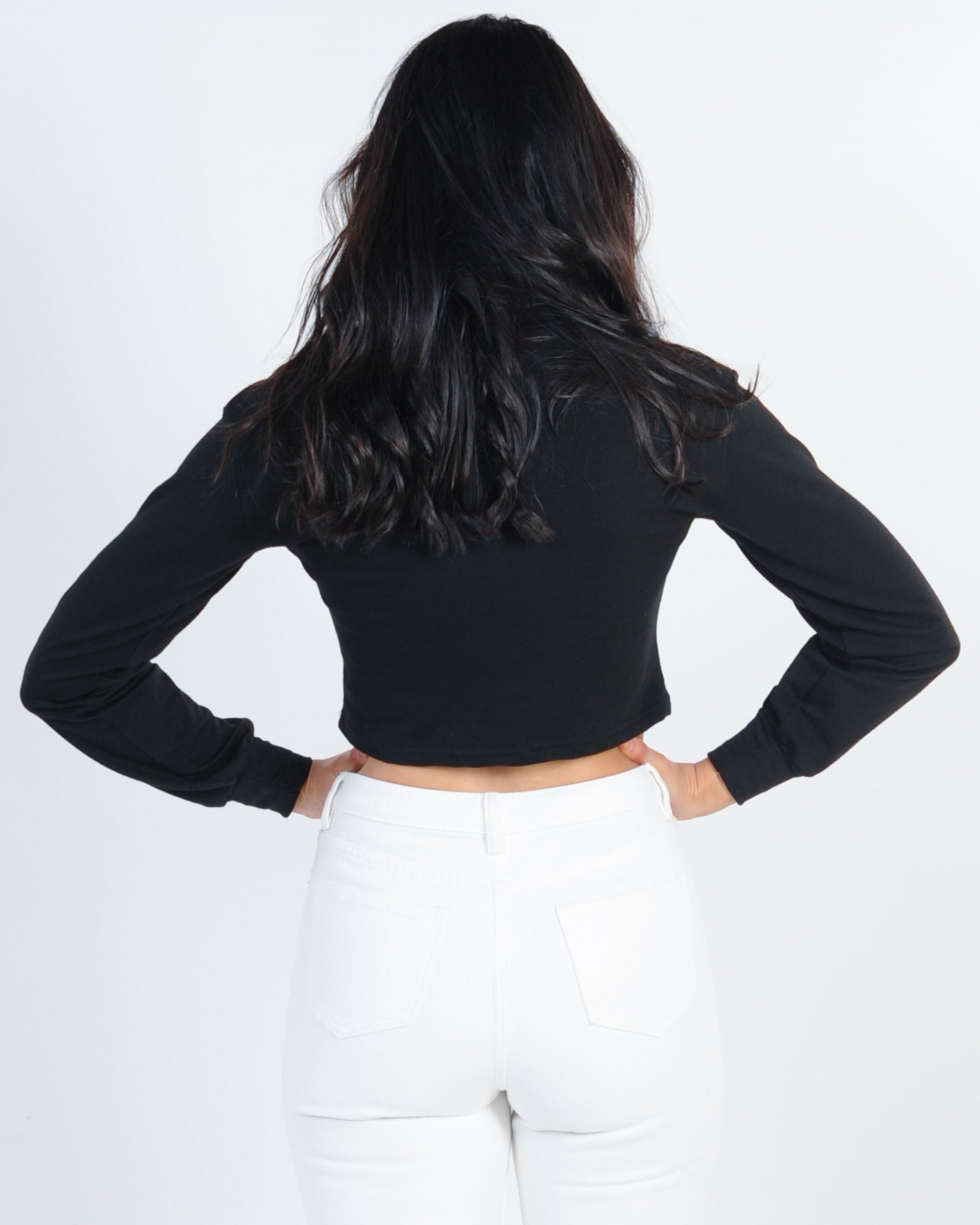 Risky Business Rollneck Top - Black