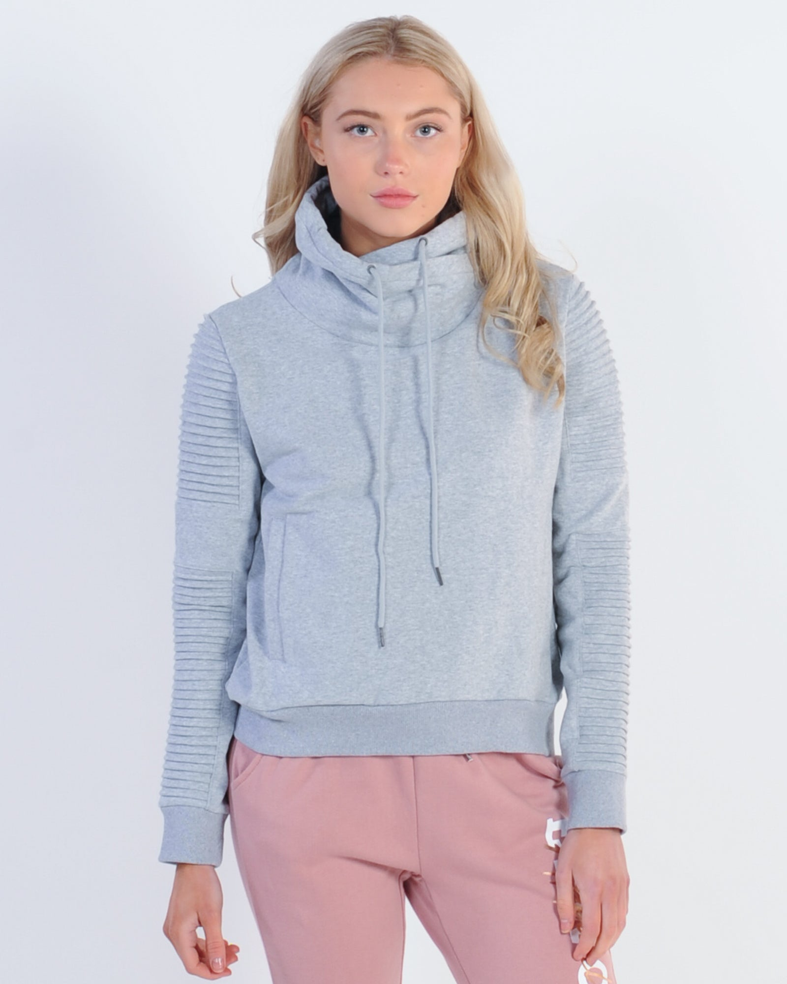 Nana Judy Adeline Funnel Neck Sweat - Grey Marle