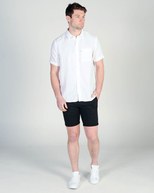 Academy Hampton S/S Shirt - White