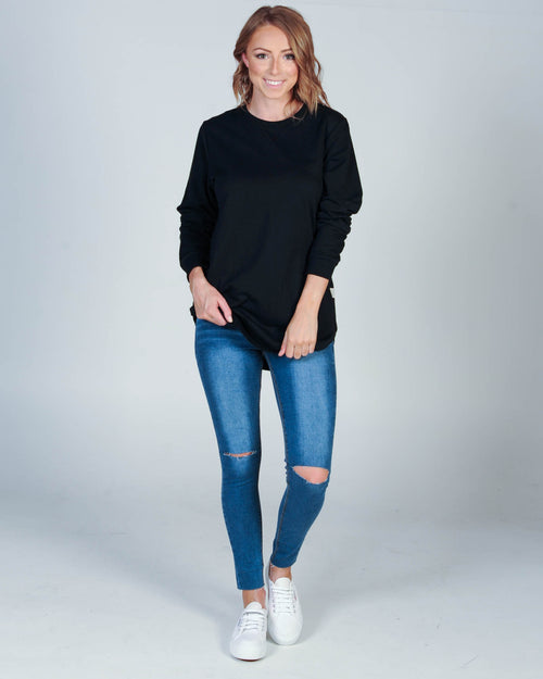 All About Eve Chase Longline Jumper - Black