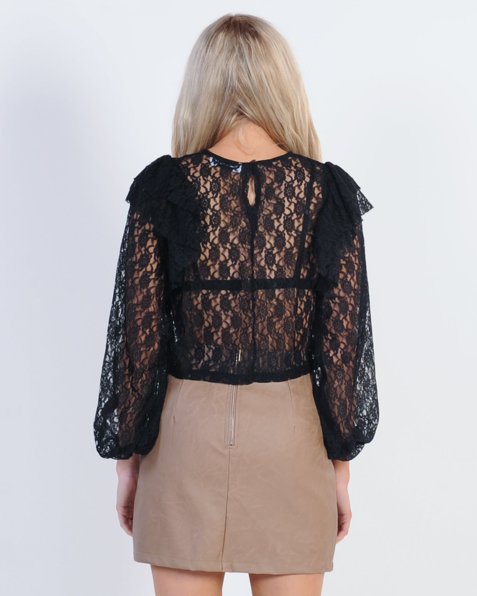 Loved Ones Lace Top - Black